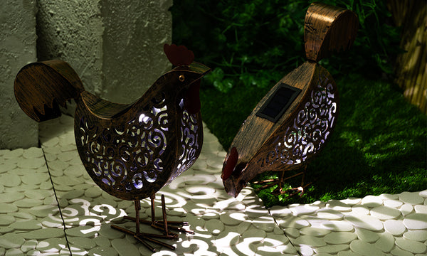 2 Pack GloBrite Solar Hen Lights
