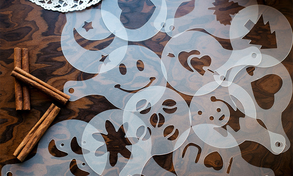 16 Piece Chocolate Stencils and Duster For all Occasions