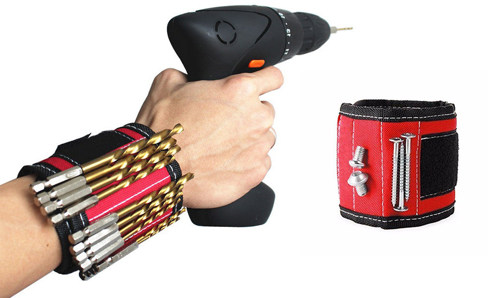 Magnetic DIY Handyman Wristbands Holding Tools,Screws,Nails,Bolts, Drill Bits and Small tool