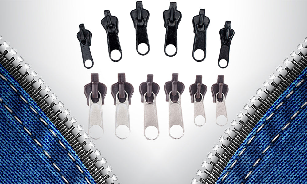 Pack of 6 Zipper Fixers - Black and Brown