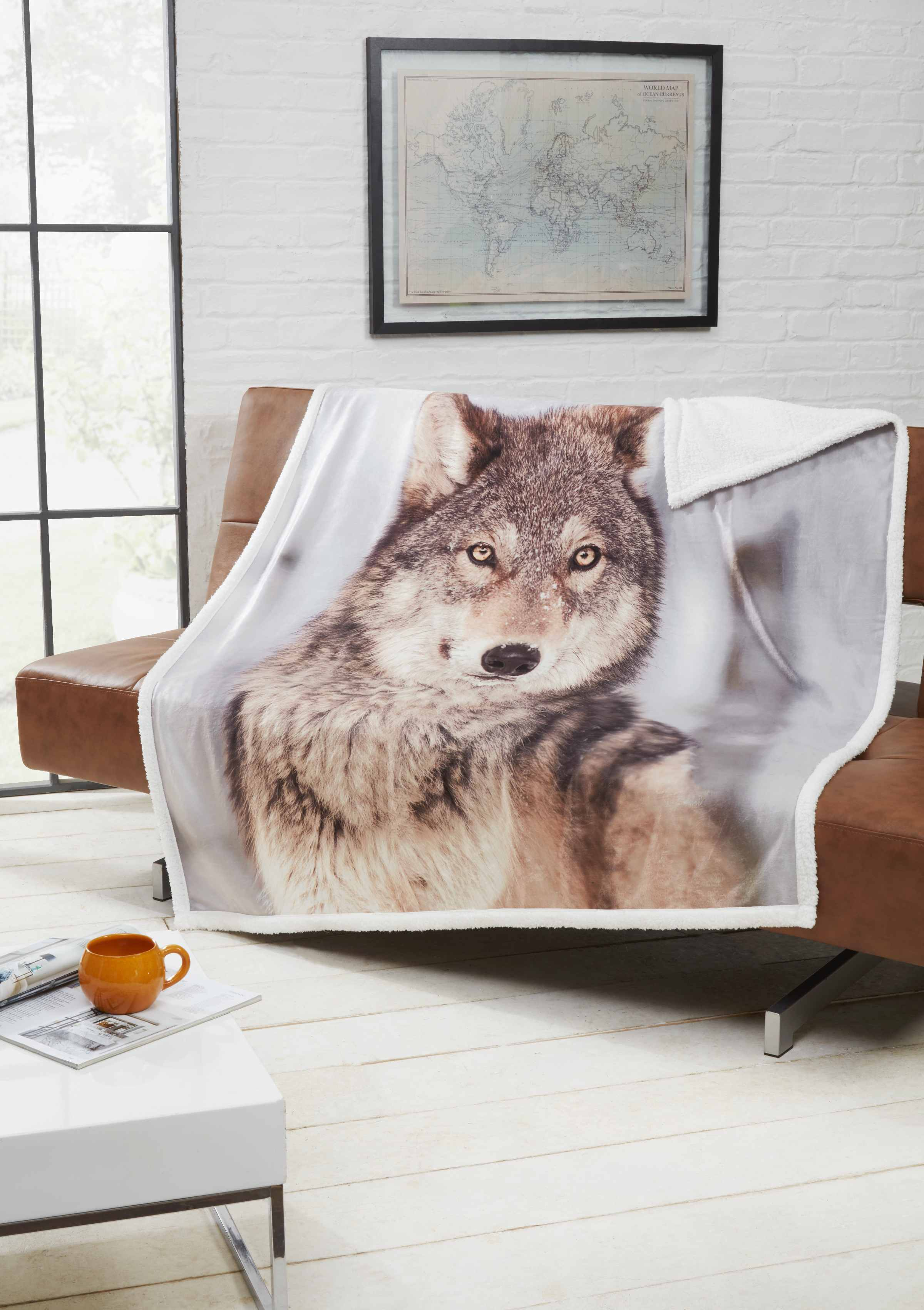 Rapport Animal Design Sherpa Backed Throw