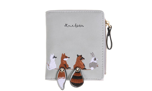 Womens Embroidered Fox Wallet