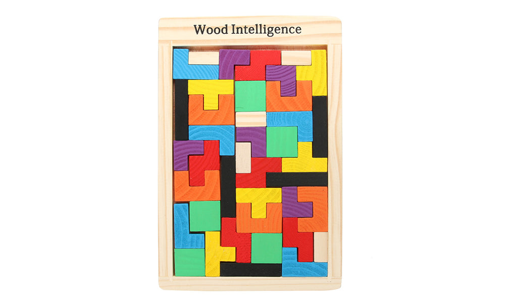 Wooden Multicolour Educational Brain-teasing Puzzle