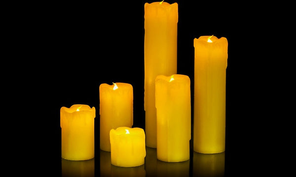 Six LED Flameless Drip Candles