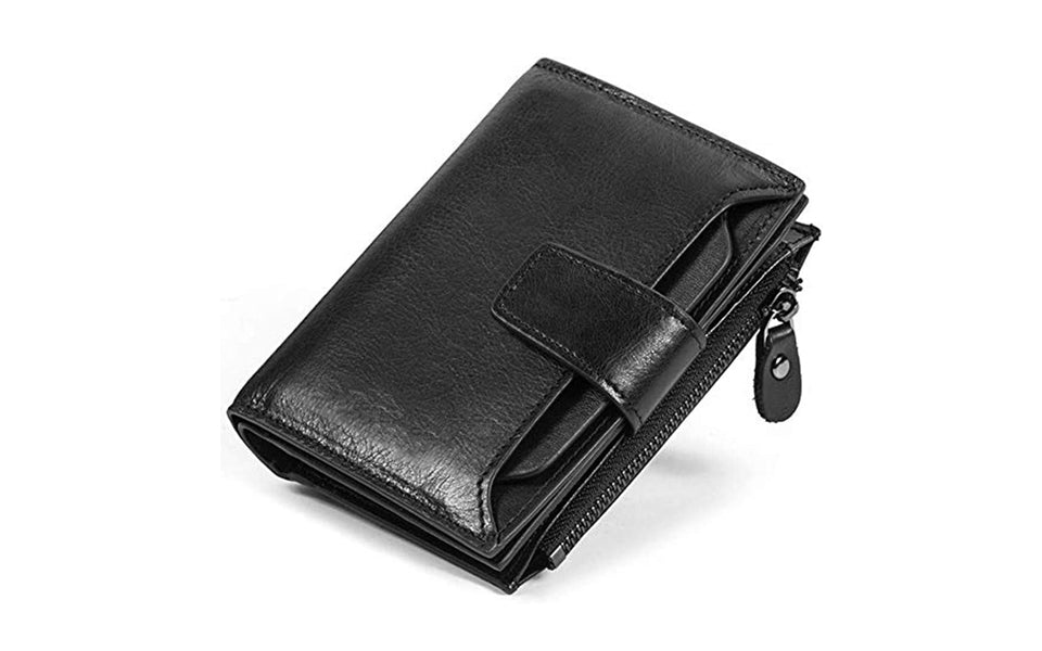 Men's Genuine Leather Wallet with ID Holder