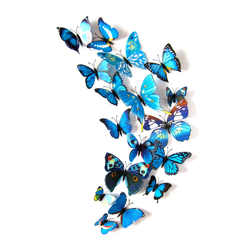 3D Decorative Butterfly Magnets (12-Piece Set)