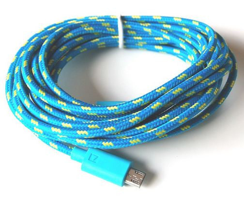 3m Micro USB Braided Charge & Sync Cable