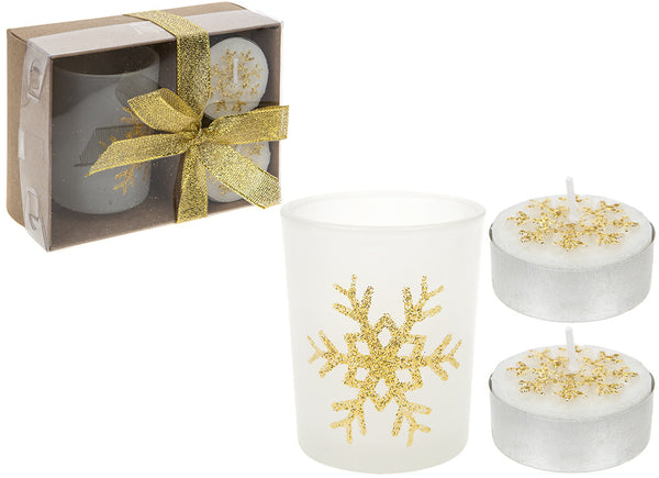 6pc Tealight Candle and Votive Set