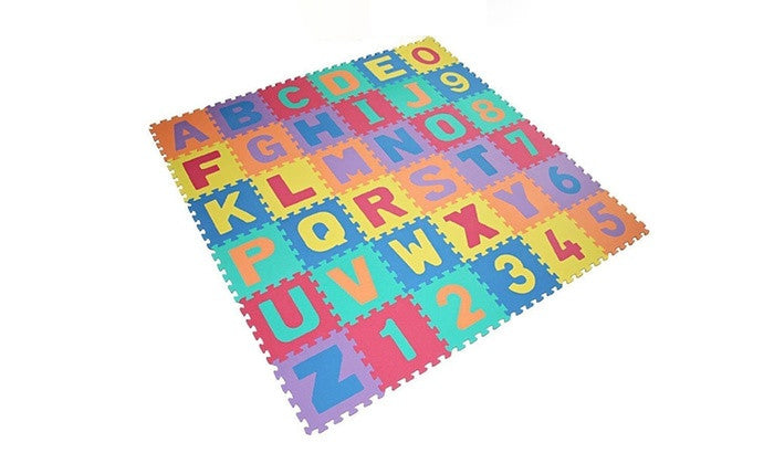 Alphabet and Numbers Puzzle Play Mat 36-Piece/ 9 Piece mat