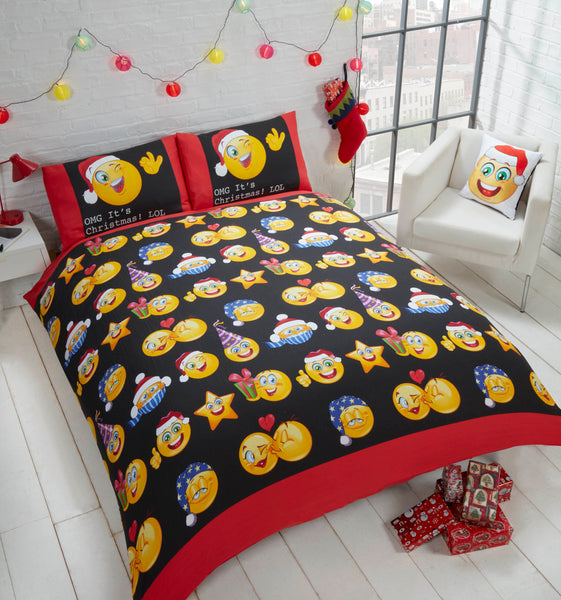 Rapport Home Festive Reversible Duvet Cover Set in Choice of Size