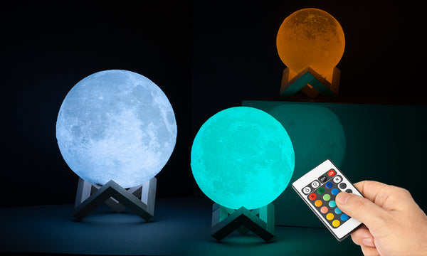 GloBrite Colour Changing Moon Lamps with Remote
