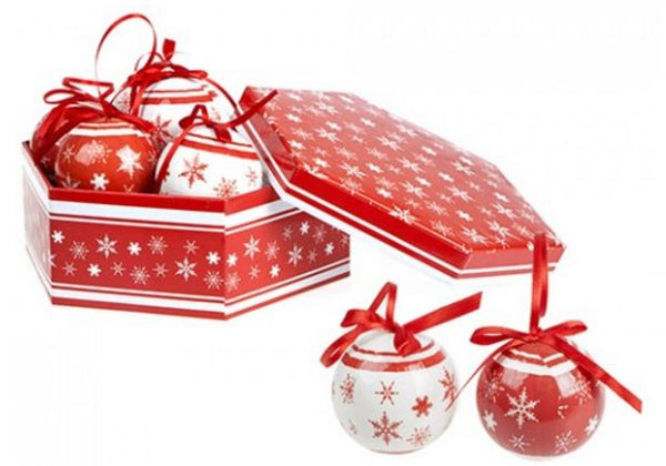 Christmas Polyfoam Baubles Box Set