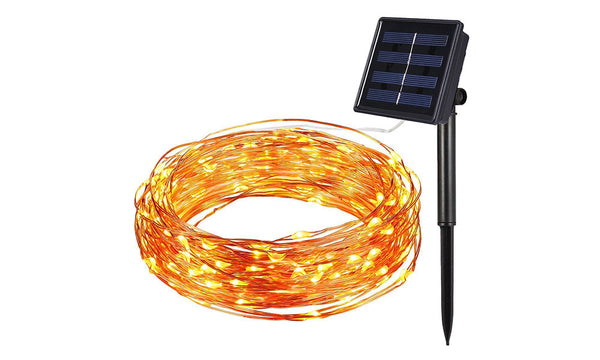 GloBrite 50, 100, 200 LED Copper String Solar Lights