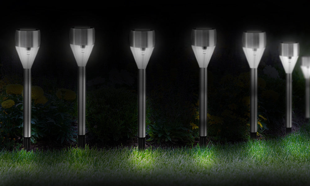 Set of 6 Diamond Solar Lights