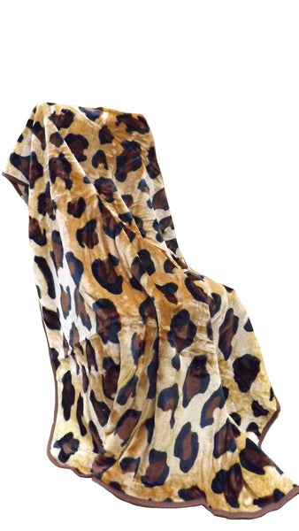 Luxurious Faux fur animal print Throw