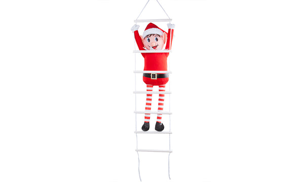 80cm Outdoor Elf on Hanging Rope Ladder