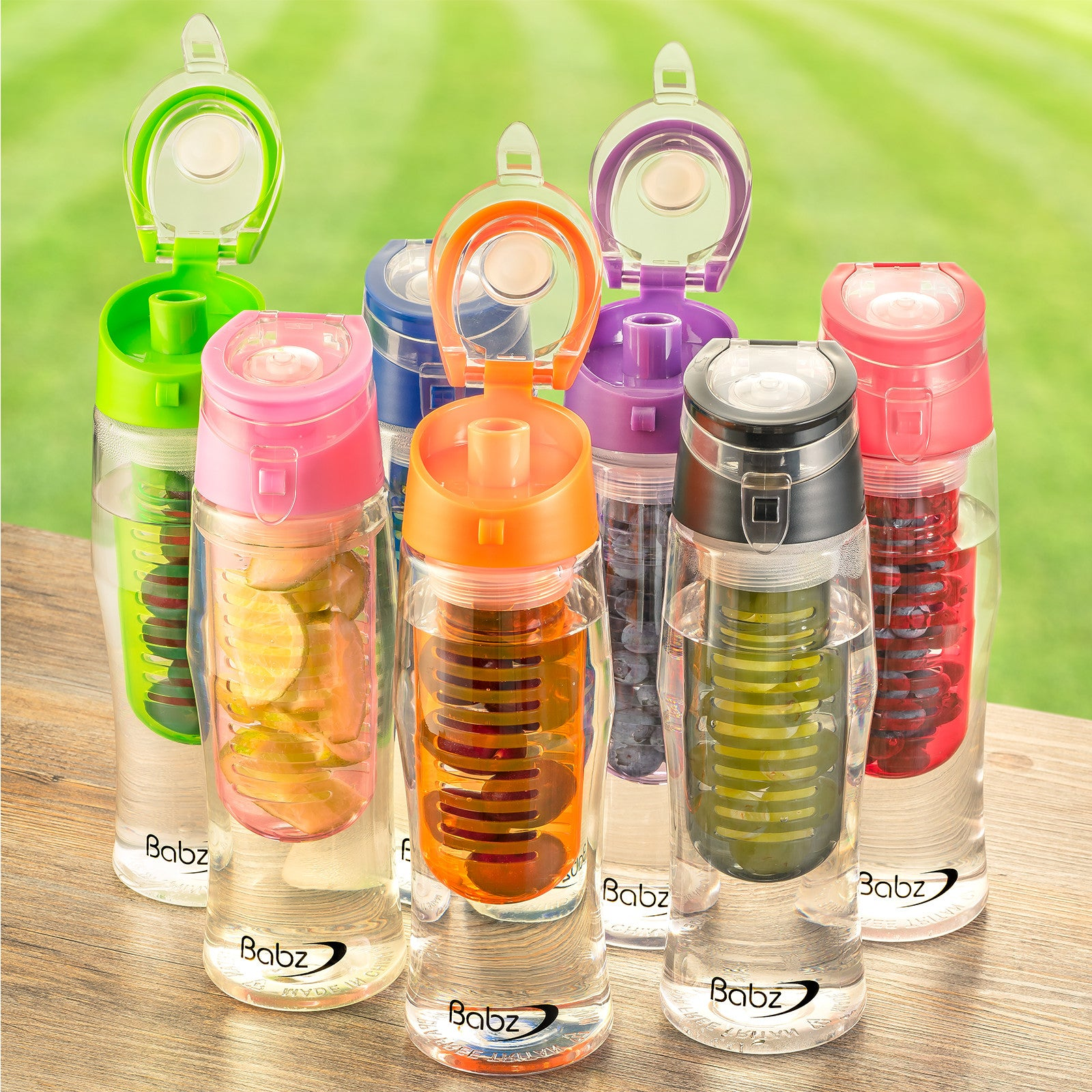 Fruit Infusing 700ml Water Bottle with Spout / Sports Lid