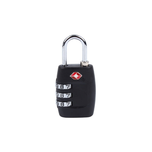 TSA Approved Luggage Padlock Black