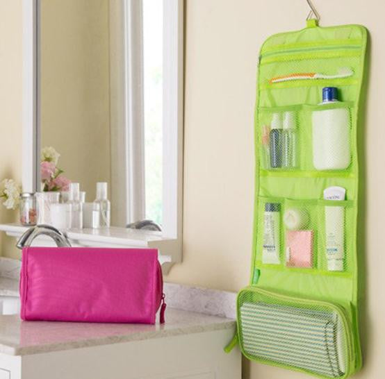 Hanging Folding Toiletry Bag Organizer
