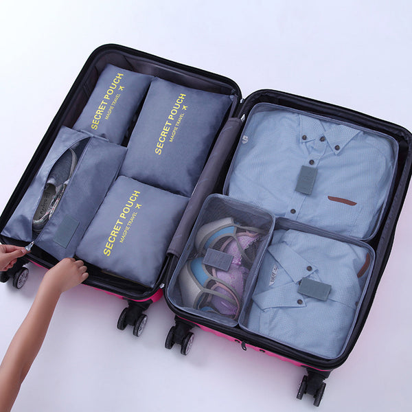 7pc Travel Luggage and Shoe Organiser