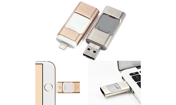 3 in 1 iFlash Drive Memory stick for iPhone, Android and USB2.0
