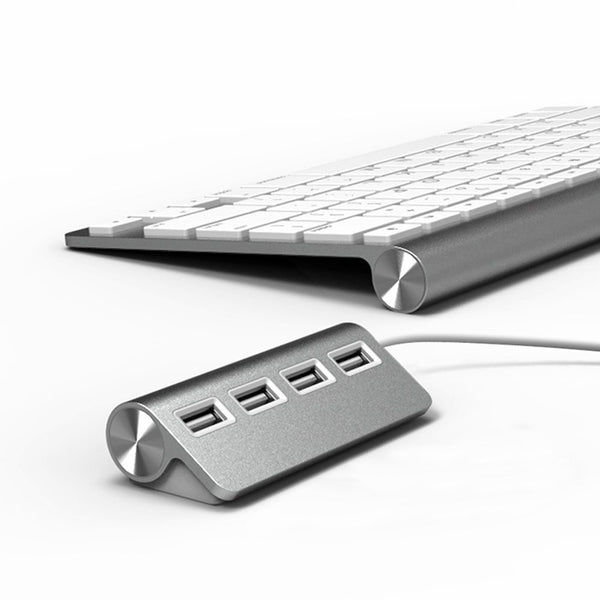 Premium 4 or 7 Port Aluminum USB Hub with Shielded Cable