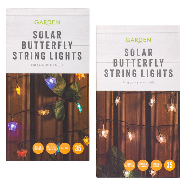 Butterflies Garden Solar String Lights