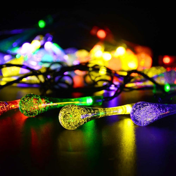 20 Globrite Solar Raindrop String Fairy Lights