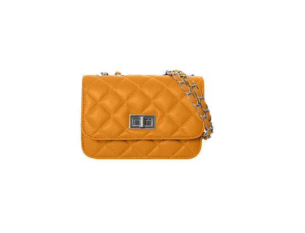 Ladies quilted chain strap handbag