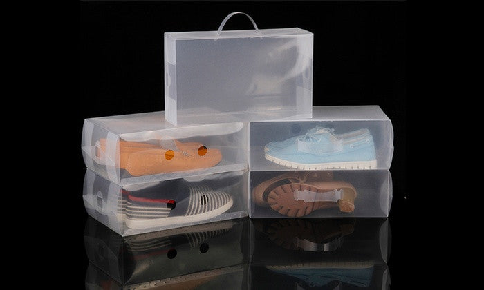 Clear Shoe boxes - 5 pack