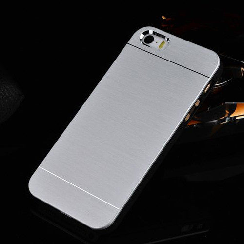 Brushed Aluminium iPhone 5/s and 6 Hybrid Phone case