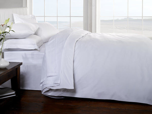 100% Egyptian Cotton Bedding - Fitted Sheet with Pillowcase Pair