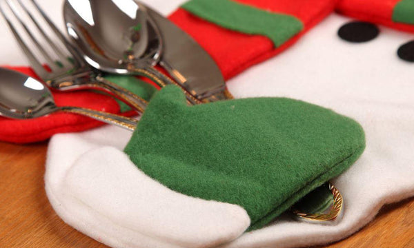 Christmas Themed Napkin and Cutlery Holding Placemats