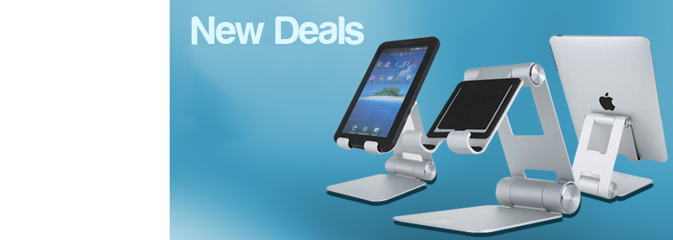 Surf, watch and type on your tablet angle free with the R1 portable stand holder