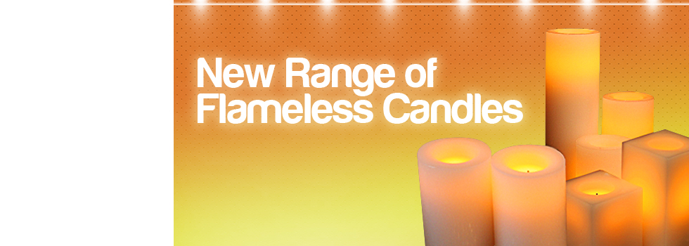 These innovative flameless candles look and feel just like a regular candle: made of real scented wax with a perfect glow and flicker.