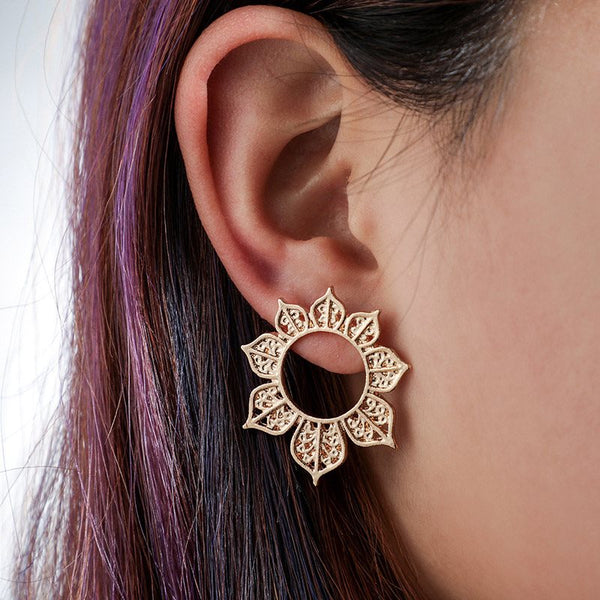 European Alloy E-Plating Gift Earrings