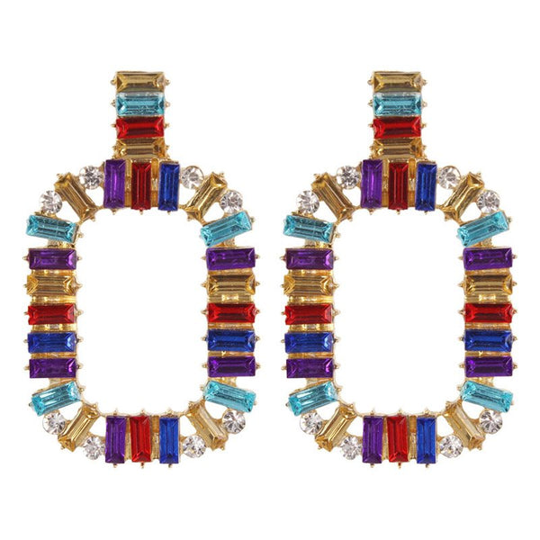 Color Block Alloy European Holiday Earrings