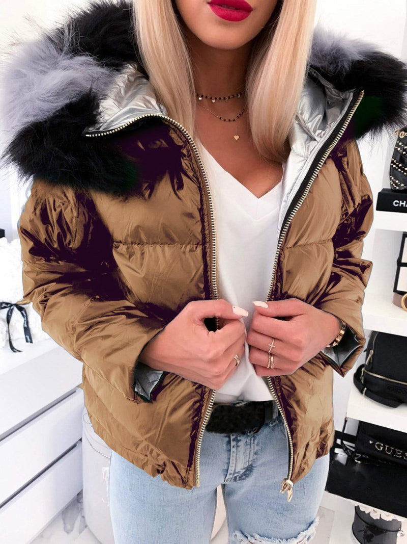 Thick Zipper Slim Standard Cotton Padded Jacket