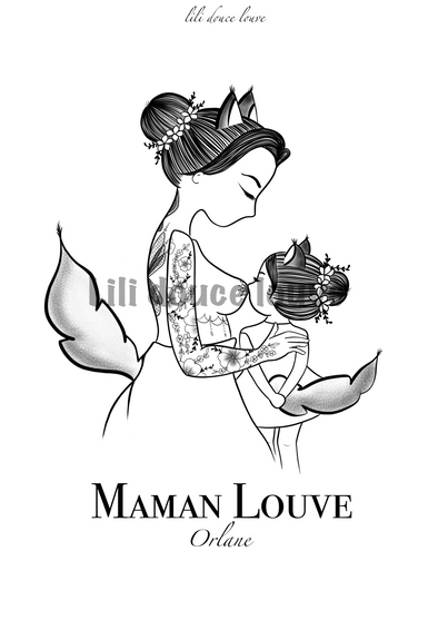 Illustration ~ Série Maman Louve