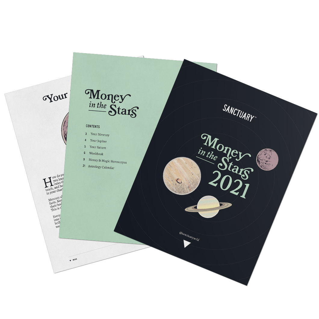 Money in the Stars: 2021 Forecasts + Planetary Workbook 🪐✨