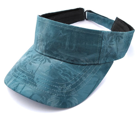 Bright Beach Visor Botanical Blue