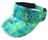 Bright Beach Visor Green Palm Leaves