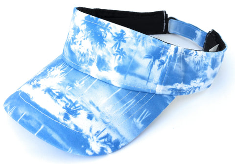 Bright Beach Visor Blue Palms