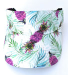 Bright Beach Visor Purple Pineapples
