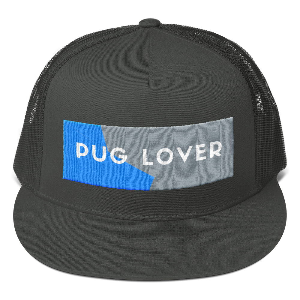 Pug Lover Mesh Back Snapback Hat