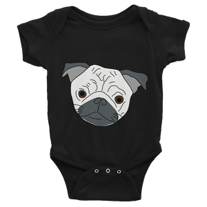Pug face Infant Bodysuit