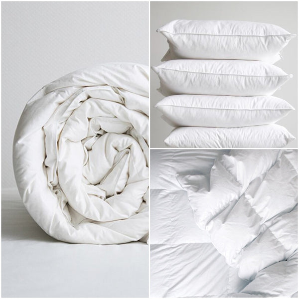 A Lit Duvet & Pillows Grid