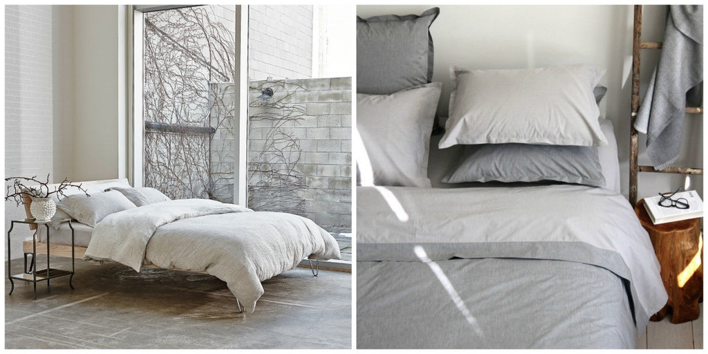 Au Lit Fine Linens: Dimora & Chambray Grey Collections