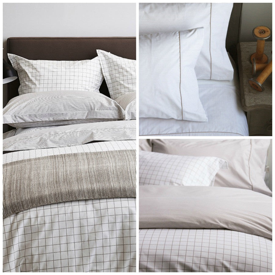 Au Lit Fine Linens - Taylor, Timothy, & Thomas Taupe Collections