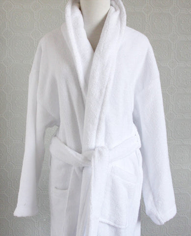 Au Lit White Micro Cotton Robe